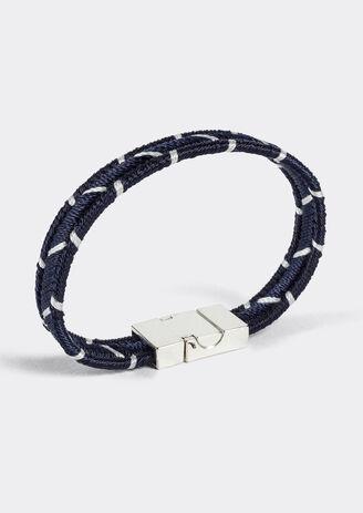 Bracelet tissu bicolore