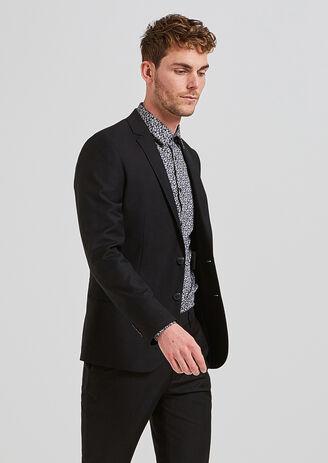 Veste de costume slim noire