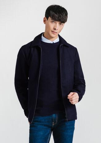 Blouson laine col chemise