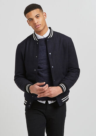 Blouson teddy lainage court