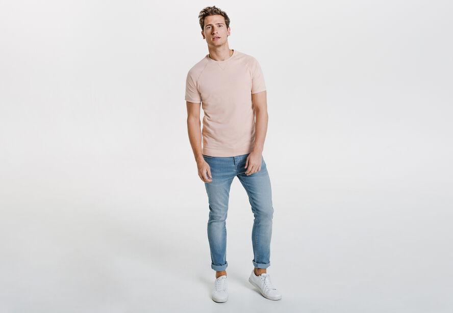 Tee shirt façon sweat