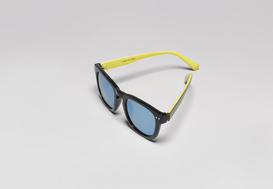 Lunettes de soleil verre miroir noir fantaisie homme jules for Verre miroir lunette