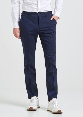 Pantalon costume bleu moyen homme