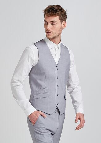 Gilet de costume extra slim gris clair gris homme