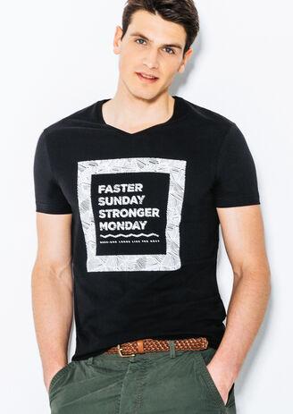 Tee shirt col V Faster Sunday