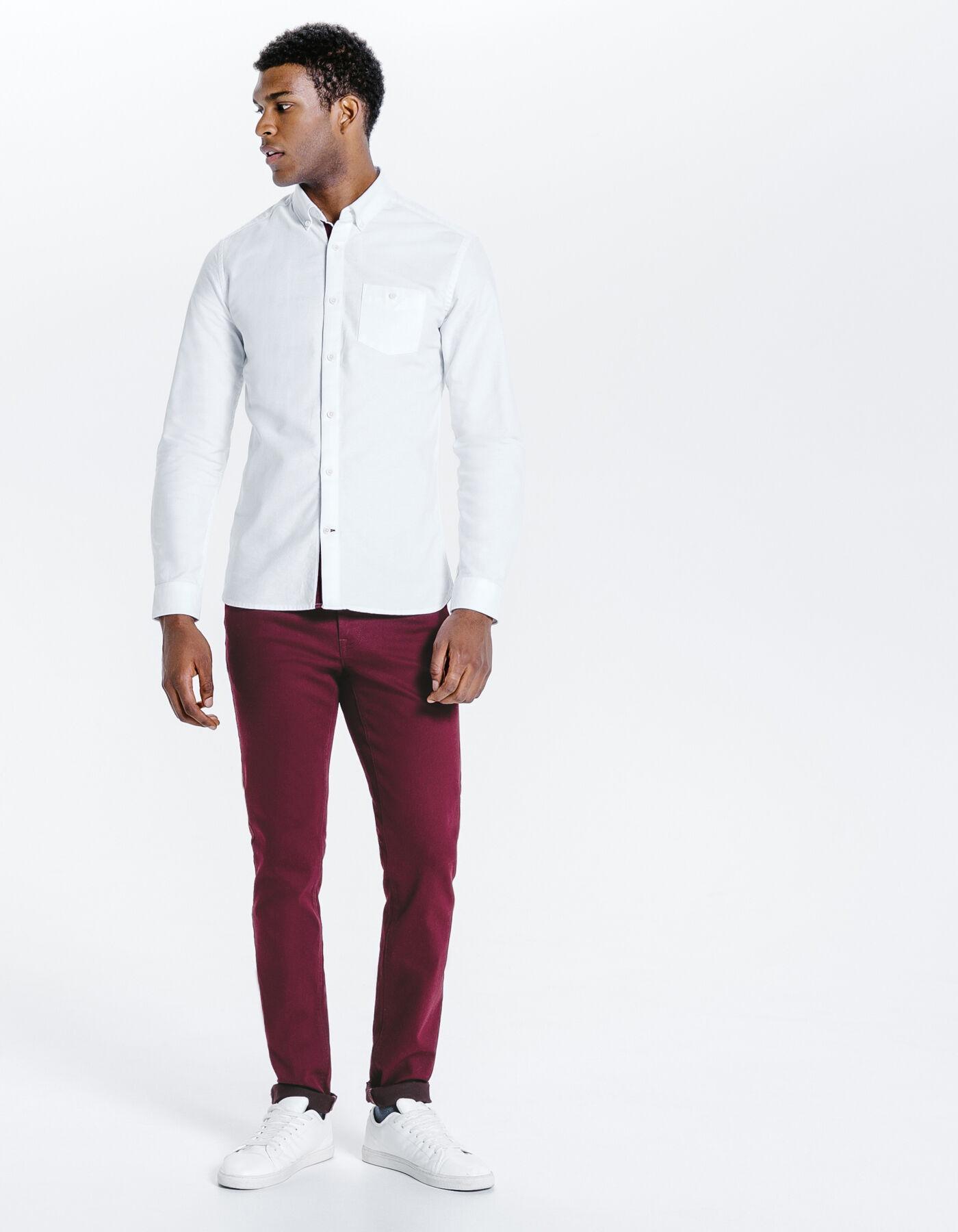 pantalon 5 poches slim bordeau homme jules. Black Bedroom Furniture Sets. Home Design Ideas