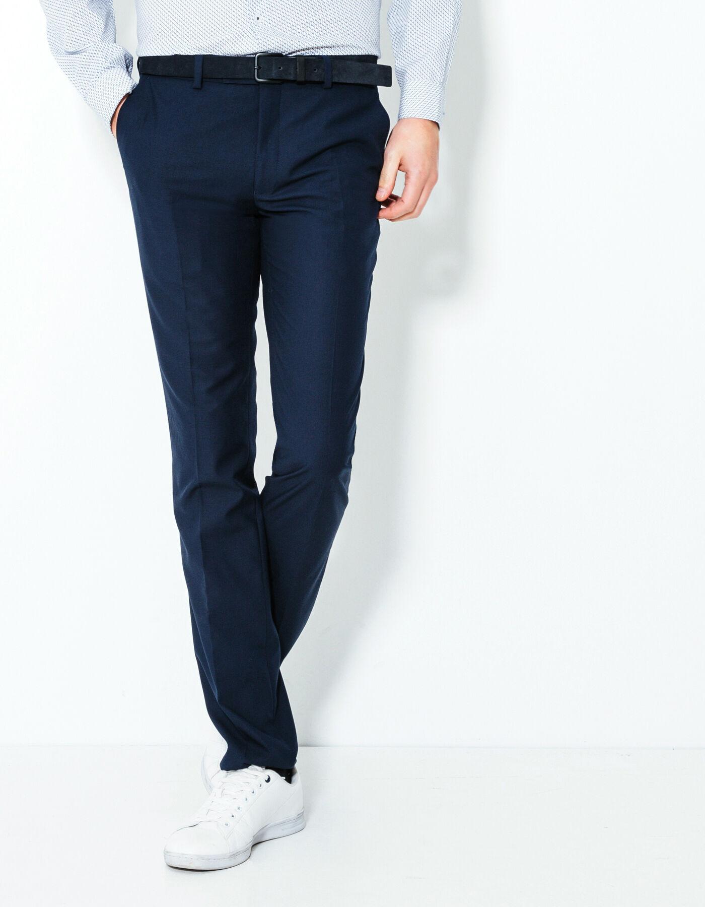 pantalon de costume slim bleu moyen homme jules. Black Bedroom Furniture Sets. Home Design Ideas