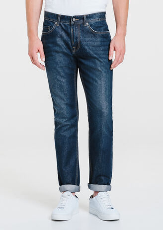 Jeans straight polycoton