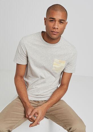 Tee shirt poche camouflage