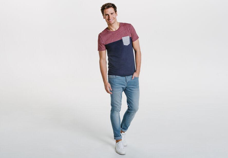 Tee shirt color block