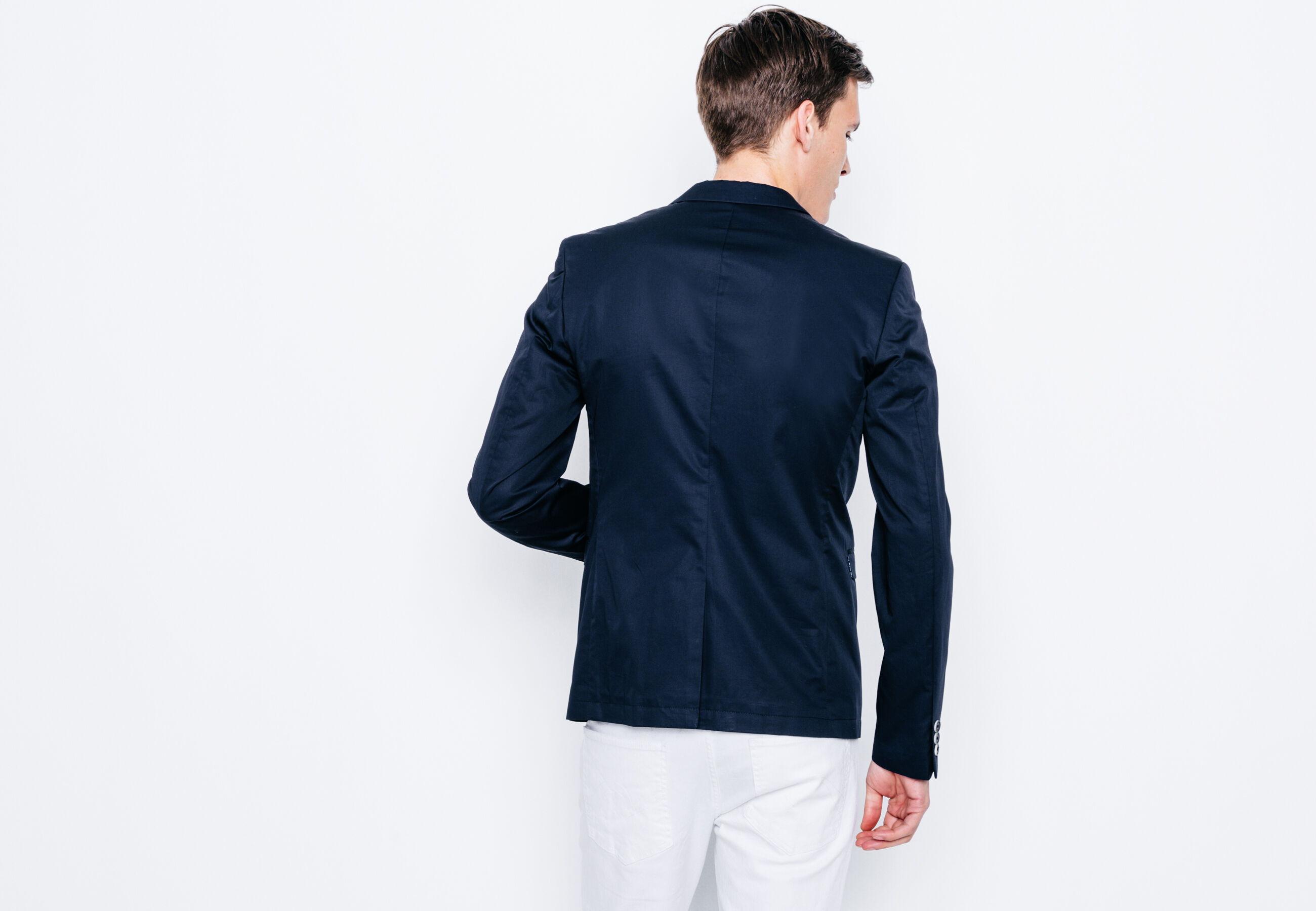 veste slim coton technique bleu marine homme jules. Black Bedroom Furniture Sets. Home Design Ideas