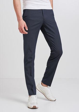 Pantalon de costume à pois extra sim