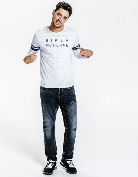 Tee shirt col rond Biker Moderne