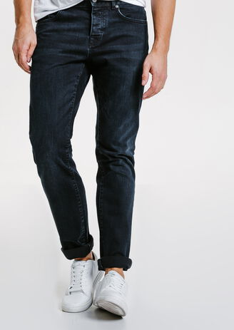 Jean straight blue black