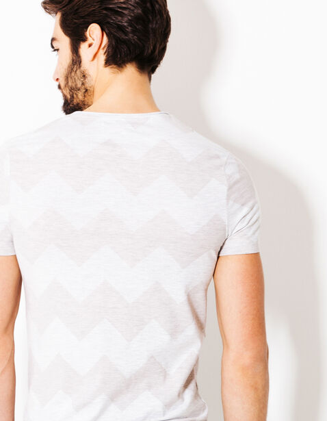Tee shirt imprimé chevron