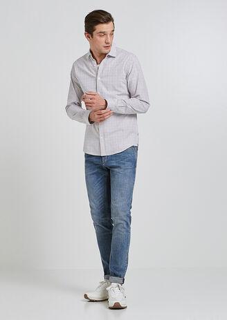 Jeans skinny braguette zippée