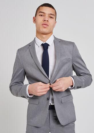 Veste de costume extra slim esprit flanelle gris