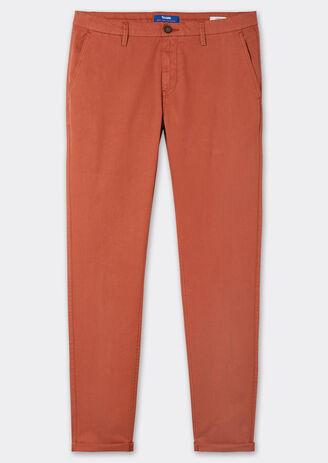 Chino skinny garment dyed