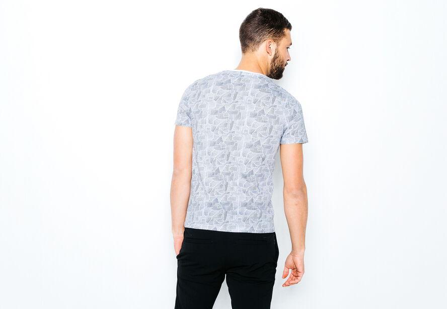 T-shirt noir et blanc Awesome