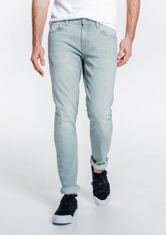 Jean slim bleu grisé bleach