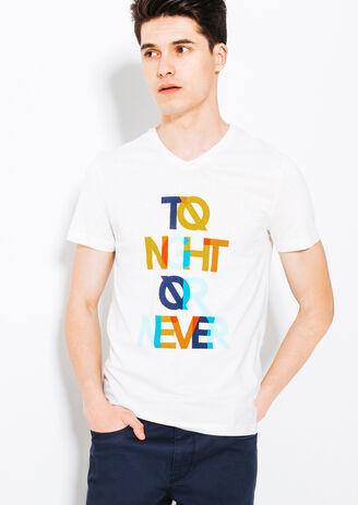 Tee shirt imprimé blanc Tonight or never