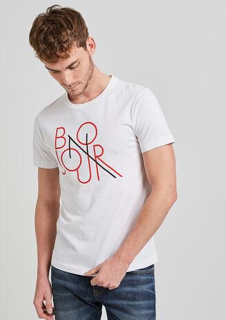 Tee shirt à message BONJOUR