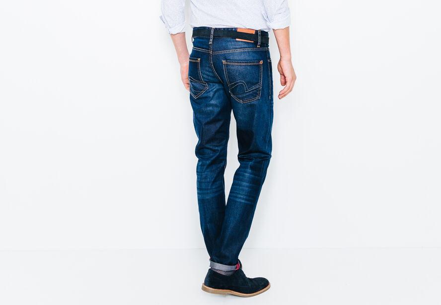 Jean straight brossé