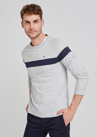 tee shirt manches longues bande sport