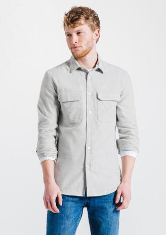 Flanellen hemd, aansluitend
