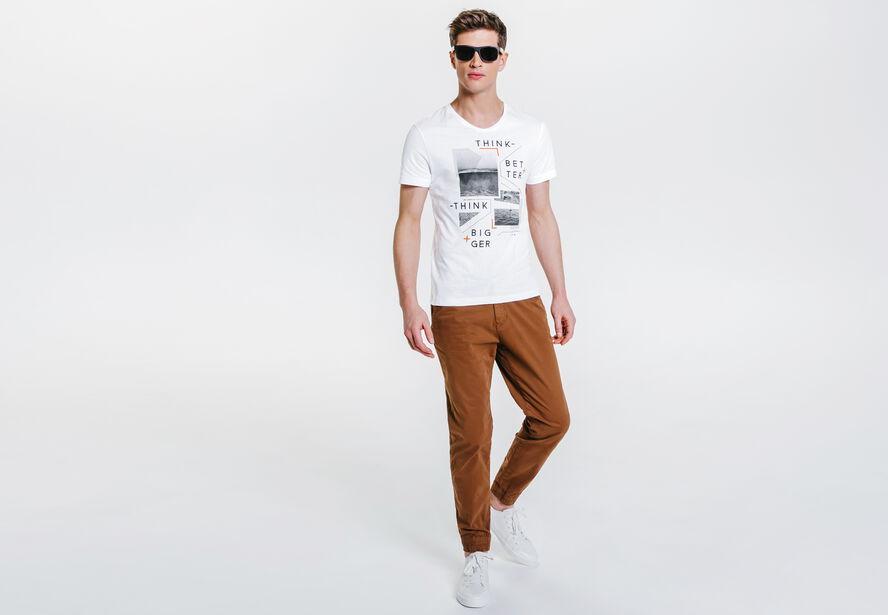 Tee shirt imprimé think better think bigger