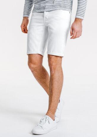 Bermuda denim blanc