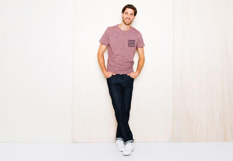 T-shirt poche Fabrication Française