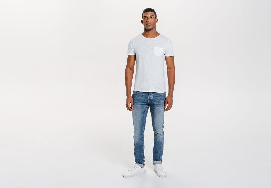 Jean slim bleu moyen
