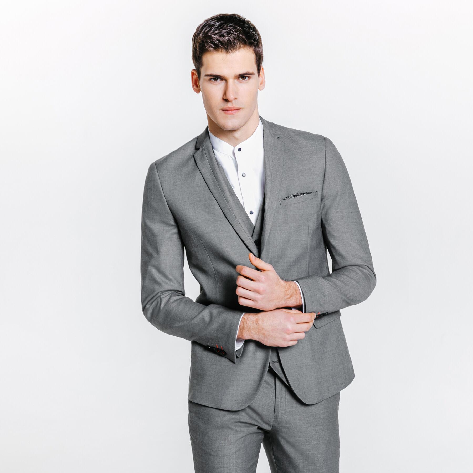 Extra À Homme Fil Veste De Costume Slim Gris Jules Clair hQdtxsrC