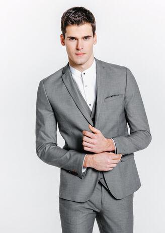 Veste de costume extra slim fil à fil