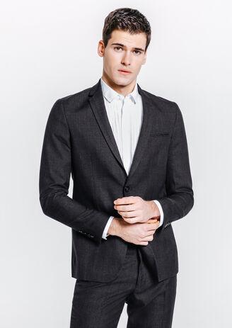 Veste de costume slim imprimé prince de galles