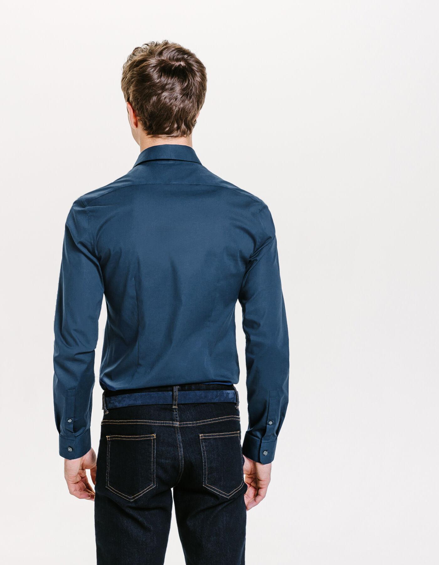 chemise unie extra slim bleu dur homme jules. Black Bedroom Furniture Sets. Home Design Ideas