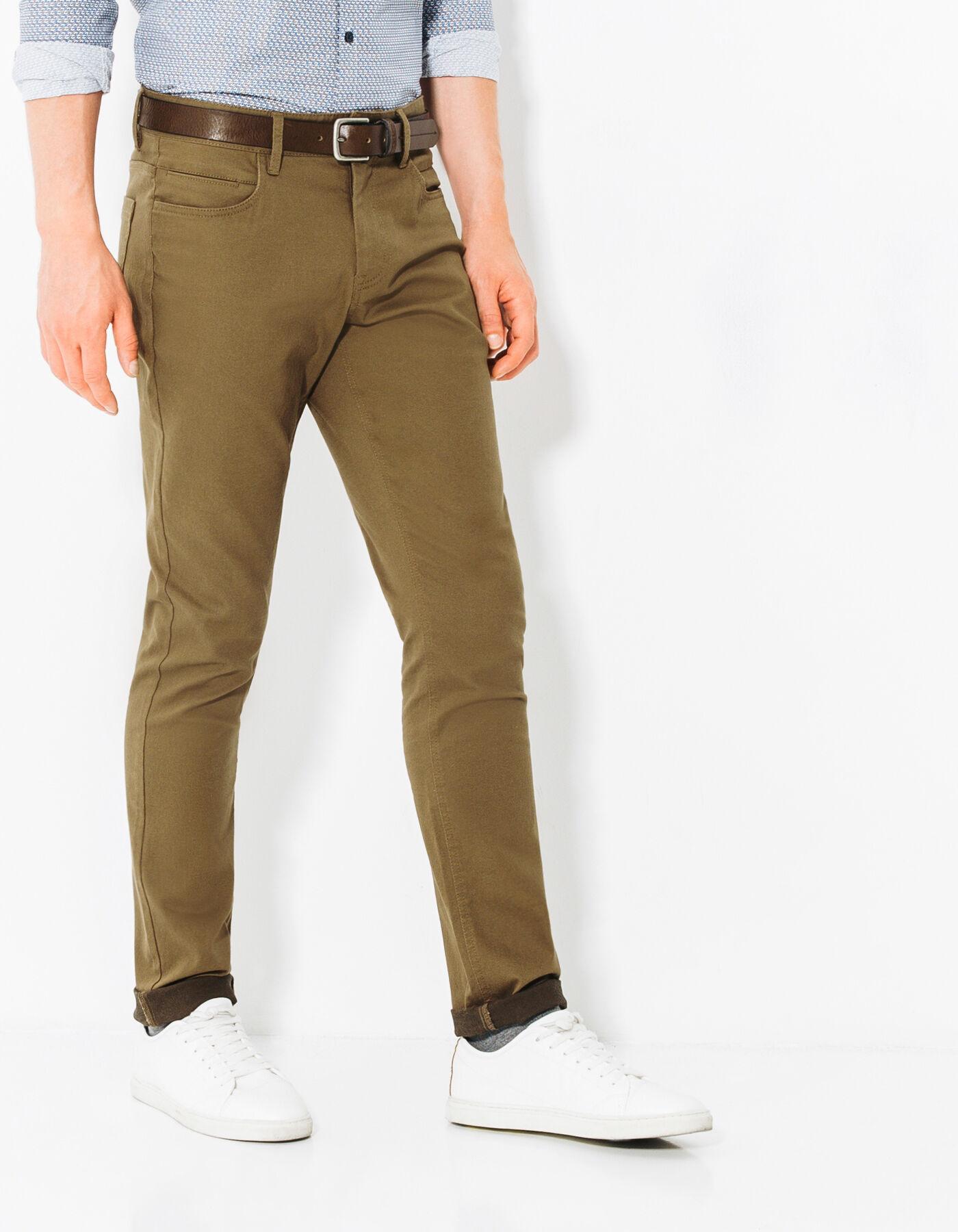 pantalon 5 poches slim camel homme jules. Black Bedroom Furniture Sets. Home Design Ideas