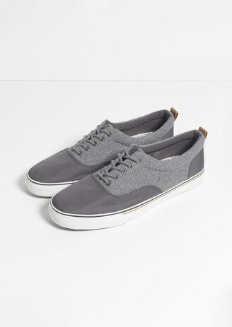 Sneaker Basse Flanelle et Nylon
