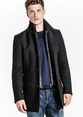 Lange mantel met afneembaar beleg