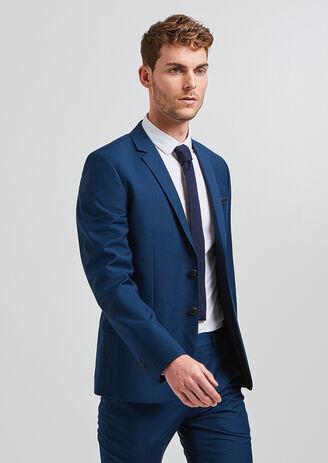 Veste de costume slim bleu canard