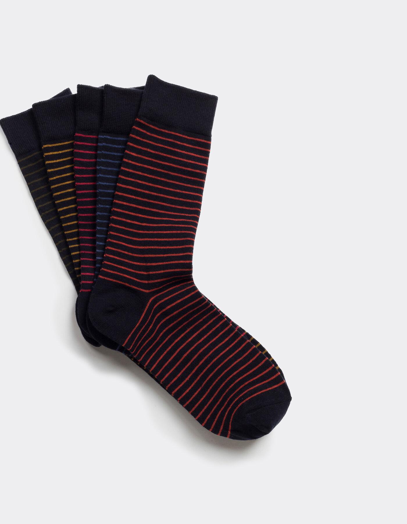 lot de 5 chaussettes hautes micro rayures color es multicolore homme jules. Black Bedroom Furniture Sets. Home Design Ideas
