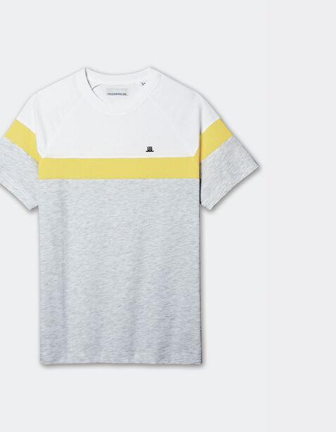 Tee shirt manches raglan bloc couleur