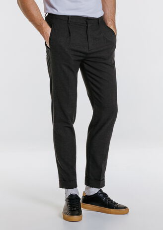 Pantalon chino slim revers chevilles