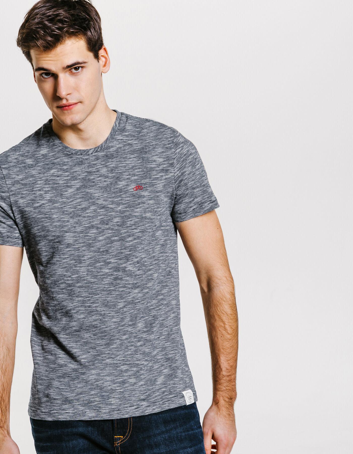 637706f77d6 T-shirt rayé La Gentle Factory Bleu Marine Homme - Jules