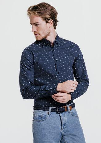 Chemise slim à motifs