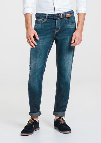 Jean straight verdi patch