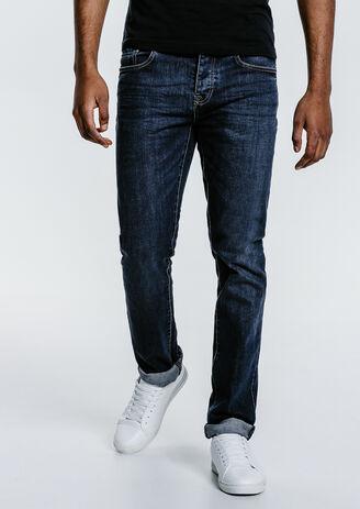 Jean straight brossé 4 longueurs