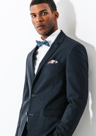 Veste de costume ajustée fils contrastés