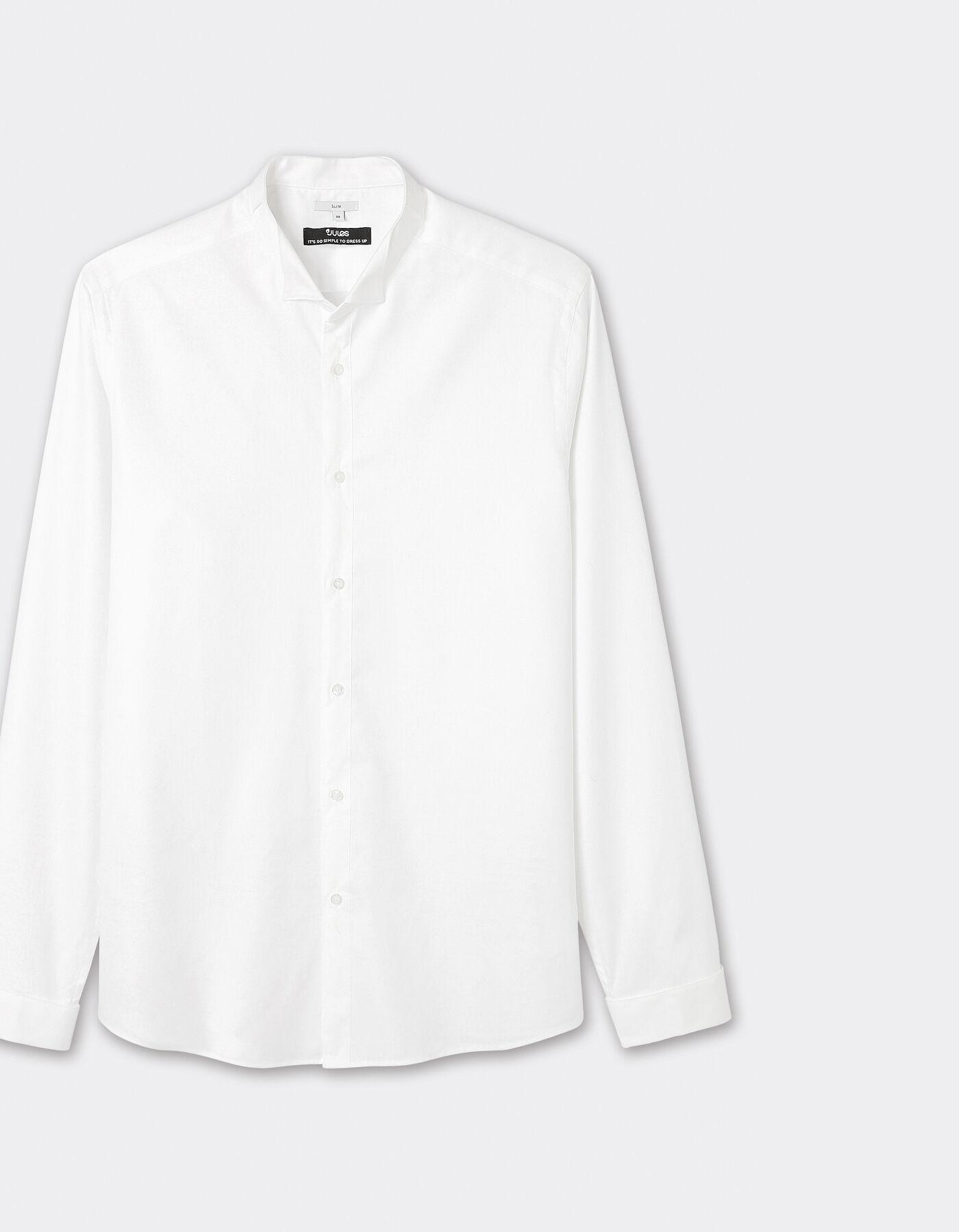 chemise slim col cass blanc homme jules. Black Bedroom Furniture Sets. Home Design Ideas